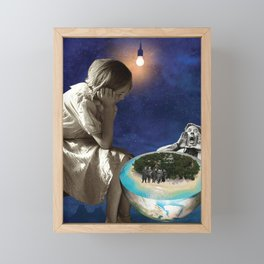 Half a world hungry because the other half  Framed Mini Art Print
