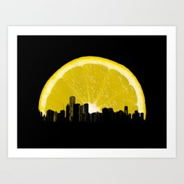 super lemon Art Print