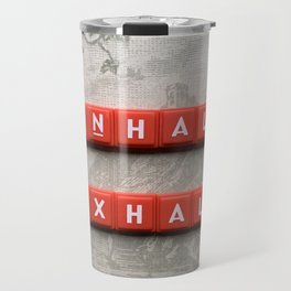 Inhale and Exhale Scrabble Tiles Travel Mug