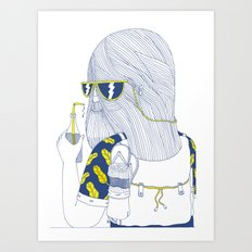 Summer Monster Art Print