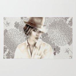 Scarlett Johansson  (black and white FANART ) Rug