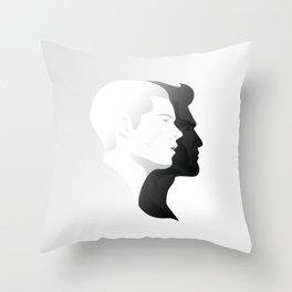 Sterek in Profile Throw Pillow