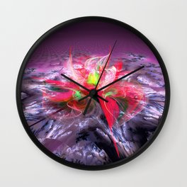 Ice Lily Wall Clock