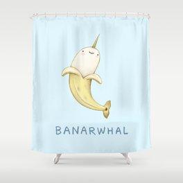Banarwhal Shower Curtain