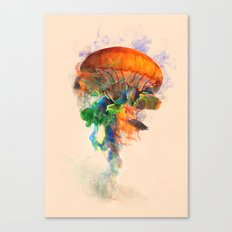 Jellyfish Ink Canvas Print
