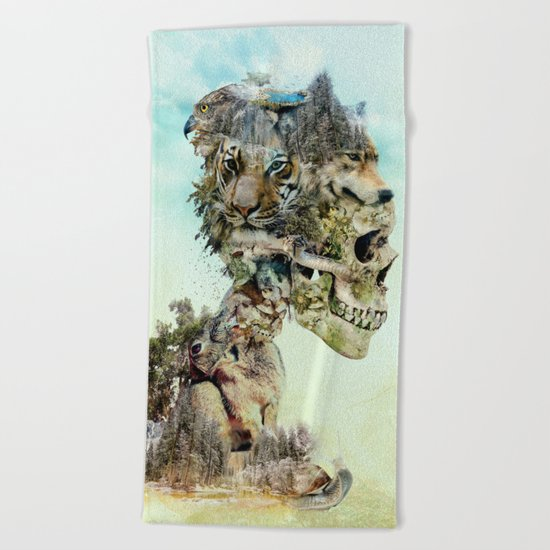 Nature Skull Beach Towel