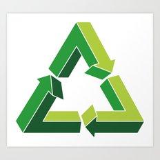 Recycle Infinitely Art Print