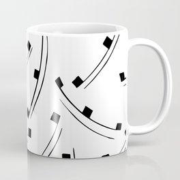 Black dot line pattern Coffee Mug