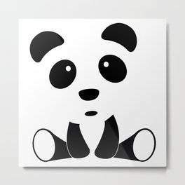Baby Pandas make me Happy! Metal Print