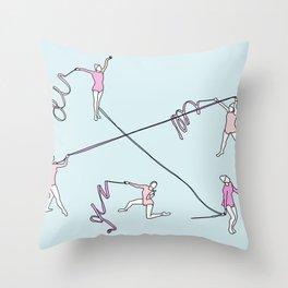 Gimnasio municipal Throw Pillow