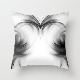 abstract fractals mirrored reacbwi Throw Pillow