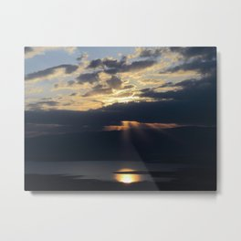 Sunrise over the Dead Sea Metal Print