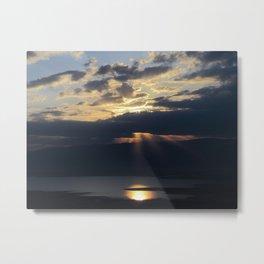 Sunrise over the Dead Sea Metal Print