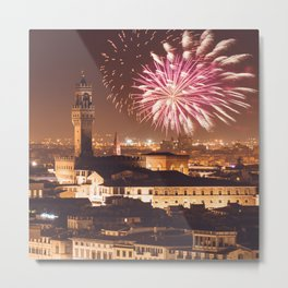 florence skyline for the new year Metal Print