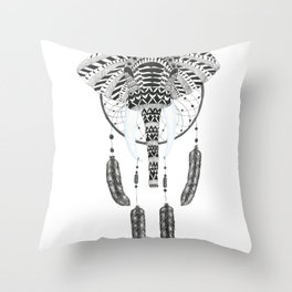 An Elephants Dream Throw Pillow