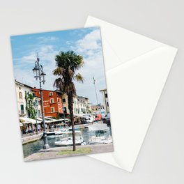 Cute italian harbour with boats | Travel Photography Italy, Lazise | Fine art photo print Stationery Cards