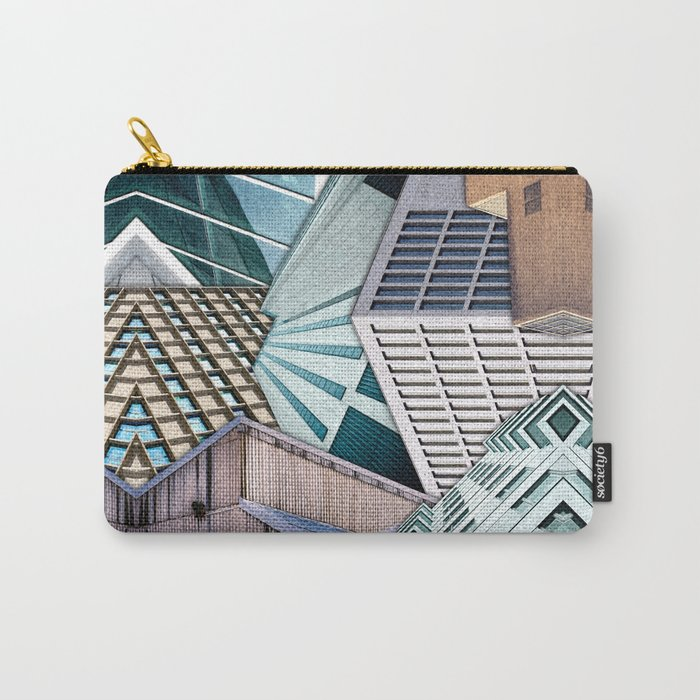 City Buildings Abstract Carry-All Pouch