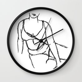 Lean Into Loving Yourself Wall Clock
