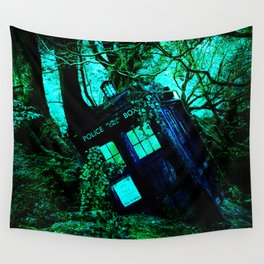 during this tardis Wall Tapestry