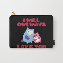 Sweet owl lovers couple love you romance Carry-All Pouch