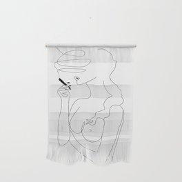 Woman Smoking Wall Hanging