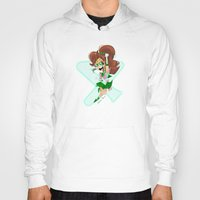 sailor jupiter Hoodies featuring Sailor Jupiter by Eileen Marie Art