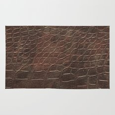 Alligator leather like brown Rug