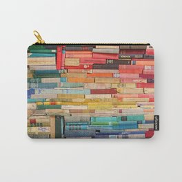 Colorful Book Stack Carry-All Pouch