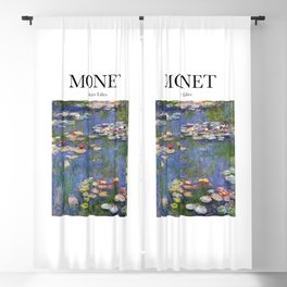 Monet - Water Lilies Blackout Curtain