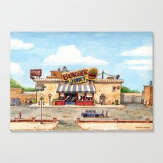 Meeting at the burger joint Canvas Print