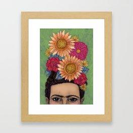 Vibrant Frida Framed Art Print
