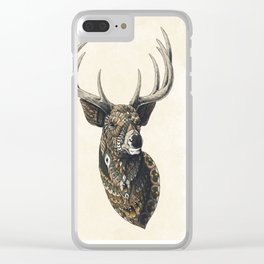 White-Tailed Deer (Color Version) Clear iPhone Case