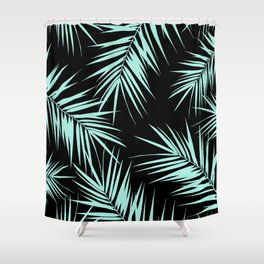 Palm Leaves Cali Finesse #4 #MintBlack #tropical #decor #art #society6 Shower Curtain