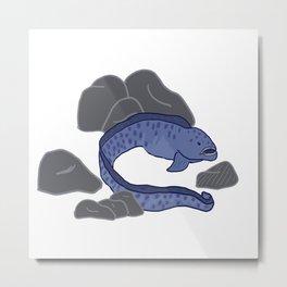 Wolf Eel (white) Metal Print