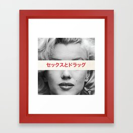 Sex, Drugs & Alcohol Framed Art Print