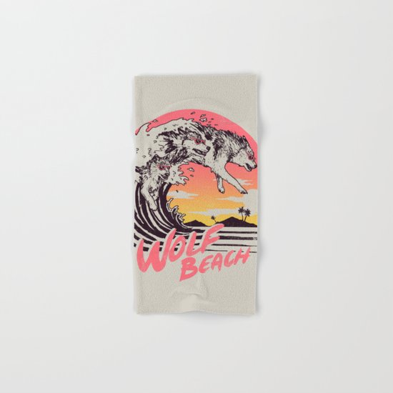 Wolf Beach Hand & Bath Towel
