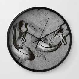 Sand in Your Shoes - Monochrome Wall Clock