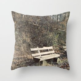 Strategically shaped logs Throw Pillow