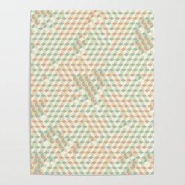 Sparkling Cubes Poster