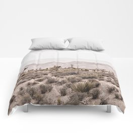 Sierra Nevada Mojave // Desert Landscape Blush Cactus Mountain Range Las Vegas Photography Comforters