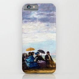 Eugene Louis Boudin - The beach - Digital Remastered Edition iPhone Case
