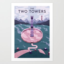 Towers Print Art Print