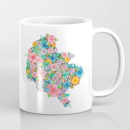 Flourished Map of Bucharest Coffee Mug