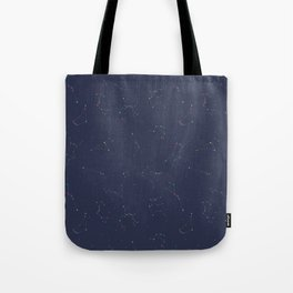 Zodiac Constellations Pattern Tote Bag