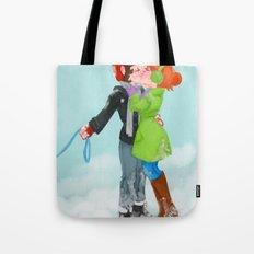 Winter Kiss Tote Bag