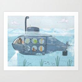 nautical explorers Art Print