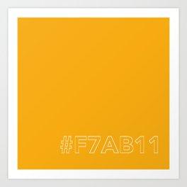 #F7AB11 [hashtag color] Art Print