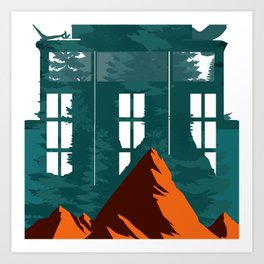 Window From Mountains Art Print
