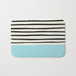 Sky Blue x Stripes Bath Mat