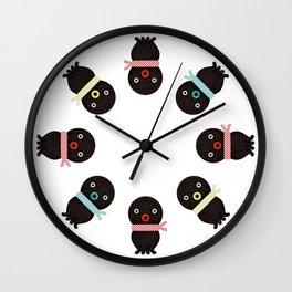 Three octopuses Wall Clock
